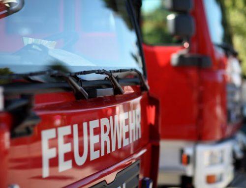 Bussetti spendet der Feuerwehr Marchtrenk Desinfektionsmittel